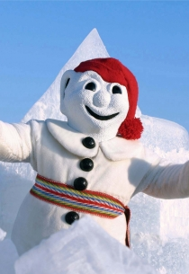Bonhomme & Snow (Photographer: Unknown © Québec Winter Carnival. Partner org.: Québec Winter Carnival. All Rights Reserved.)