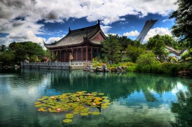 Image HDR du jardin chinois aux Jardins botaniques de Montréal (Nantel, André © Nantel, André; VisaPro.ca Tous droits réservés.)