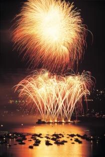 Célébrations du Festival Light fireworks dans la Baie des anglais, Vancouver (King, Joseph S © King, Joseph S; Tourism BC. Tdr.)
