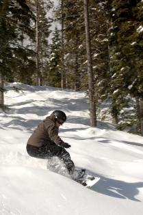 Făcând snowboard în stațiunea alpină Kimberley (Gluns, David © Gluns, D.; Tourism BC. OP: Tourism BC Toate drepturile rezervate)